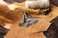 Leathercraft tools Stock Photo