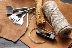 Leathercraft tools Stock Photos