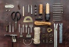 Leathercraft tools Stock Images