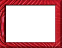 Leatherette frame. Red leatherette relief textured frame Stock Image