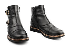 Leathers boots Royalty Free Stock Images