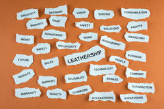 Leathership concept Royalty Free Stock Images