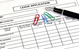 Leave Application Stock Photography