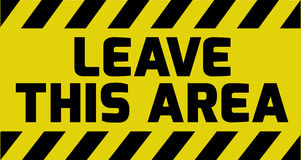 Leave this area sign Royalty Free Stock Images