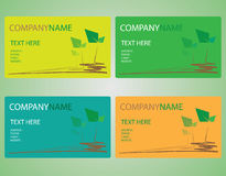 Leave card name. This is a leave card name style Royalty Free Stock Photos