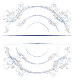 Leave circle border. Retro style leave circle border in Stock Images