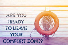 Leave comfort zone ask Stock Image