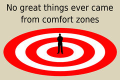 Leave comfort zone Royalty Free Stock Image