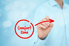Leave comfort zone Royalty Free Stock Photo