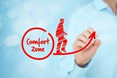 Leave comfort zone Stock Photo