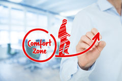 Leave comfort zone Royalty Free Stock Images