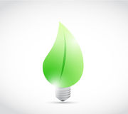 Leave eco light bulb illustration design Stock Photography