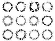 Leave laurel set. Vector design Stock Image