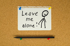 Leave me alone Royalty Free Stock Images