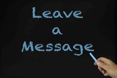 Leave a message Stock Photo