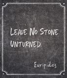 Leave no stone Euripides stock photos