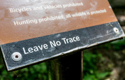 Leave No Trace Sign Royalty Free Stock Photos