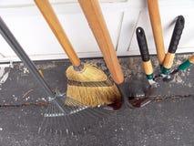 Leave Rake, Lopper, Hedge Shear, Scissors, Broom Stock Image