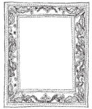 Leave small frame and sewing style Stock Photo