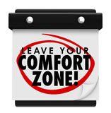 Leave Your Comfort Zone Words Calendar New Experience Stock Photo