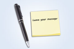 Leave your message. Royalty Free Stock Photo