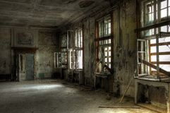 Leaved Russische barakken Royalty-vrije Stock Fotografie