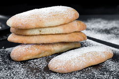 Leavened Savoiardi Biscuits Royalty Free Stock Images