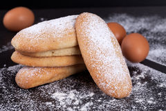 Leavened Savoiardi Biscuits Royalty Free Stock Photos