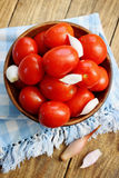 Leavened tomatoes and onions Stock Photography