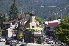 Leavenworth德国人镇 免版税库存照片