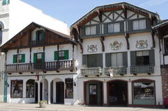 Leavenworth, Bavarien村庄 库存照片