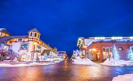 Leavenworth, Ουάσιγκτον, ΗΠΑ 02/14/16: όμορφο leavenworth με Στοκ Εικόνες