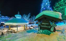 Leavenworth, Ουάσιγκτον, ΗΠΑ 02/14/16: όμορφο leavenworth με Στοκ φωτογραφία με δικαίωμα ελεύθερης χρήσης
