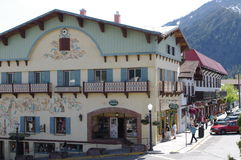 Leavenworth, a Bavarien village in Washington state. An American Bavarian town,a substitute trip to Germany Stock Photo