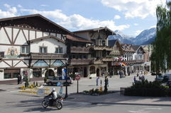 Leavenworth, a Bavarien village in Washington state Stock Photos