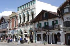 Leavenworth, Bavarien wioska w stan washington obrazy royalty free
