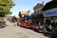 Leavenworth budynku, jesień liścia festiwal/ Obrazy Stock