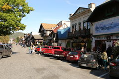 Leavenworth building / Autumn Leaf Festival Stock Images