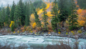 Leavenworth in de Herfst Stock Afbeeldingen
