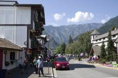 Leavenworth-Deutschstadt Stockfotografie