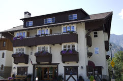Leavenworth German town Stock Photo