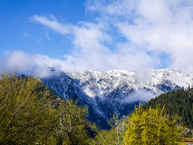 Leavenworth mountains Royalty Free Stock Images