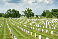 Leavenworth National Cemetery Royalty Free Stock Images