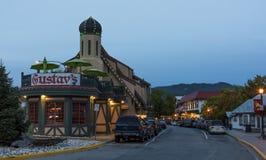 Leavenworth på gryning arkivfoton