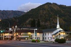 Leavenworth på gryning arkivbilder