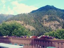 Leavenworth, un Mountain View della prima colazione immagini stock libere da diritti