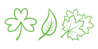 Leaves. Green Nature Icons. Part 4 - Leaves Royalty Free Illustration