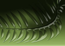 Leaves. Green embossed leaves on a dark green background Royalty Free Stock Images