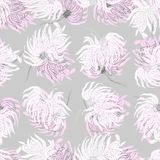 Leaves and Apples Seamless Pattern. Pastel peach color and black. Hand Drawn backdrop for wallpaper, textile, invitations, wedding, wrapping papers, etc royalty free illustration