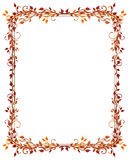 Leaves, autumn, frame stock illustration